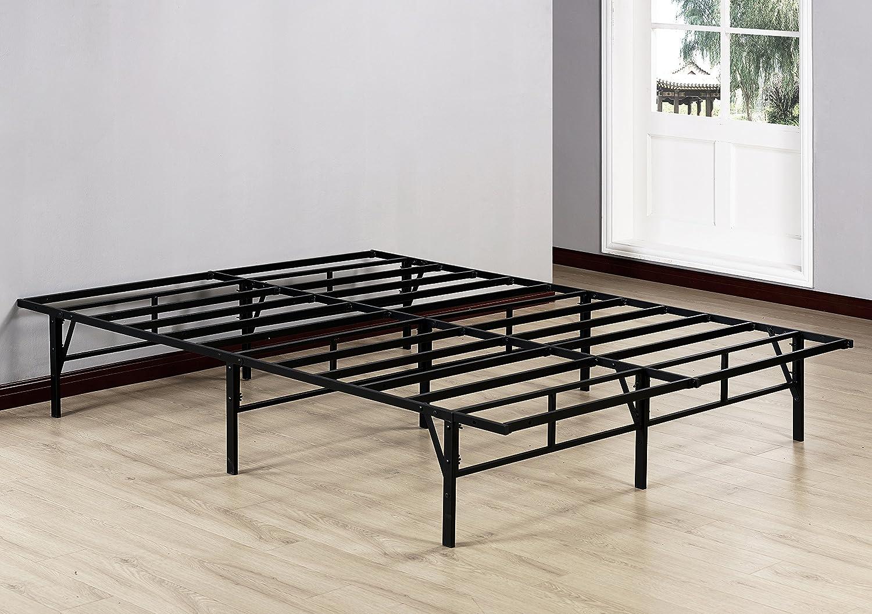 Kings Brand Furniture Platform Bed Frame Mattress Foundation No Box Spring Needed Queen