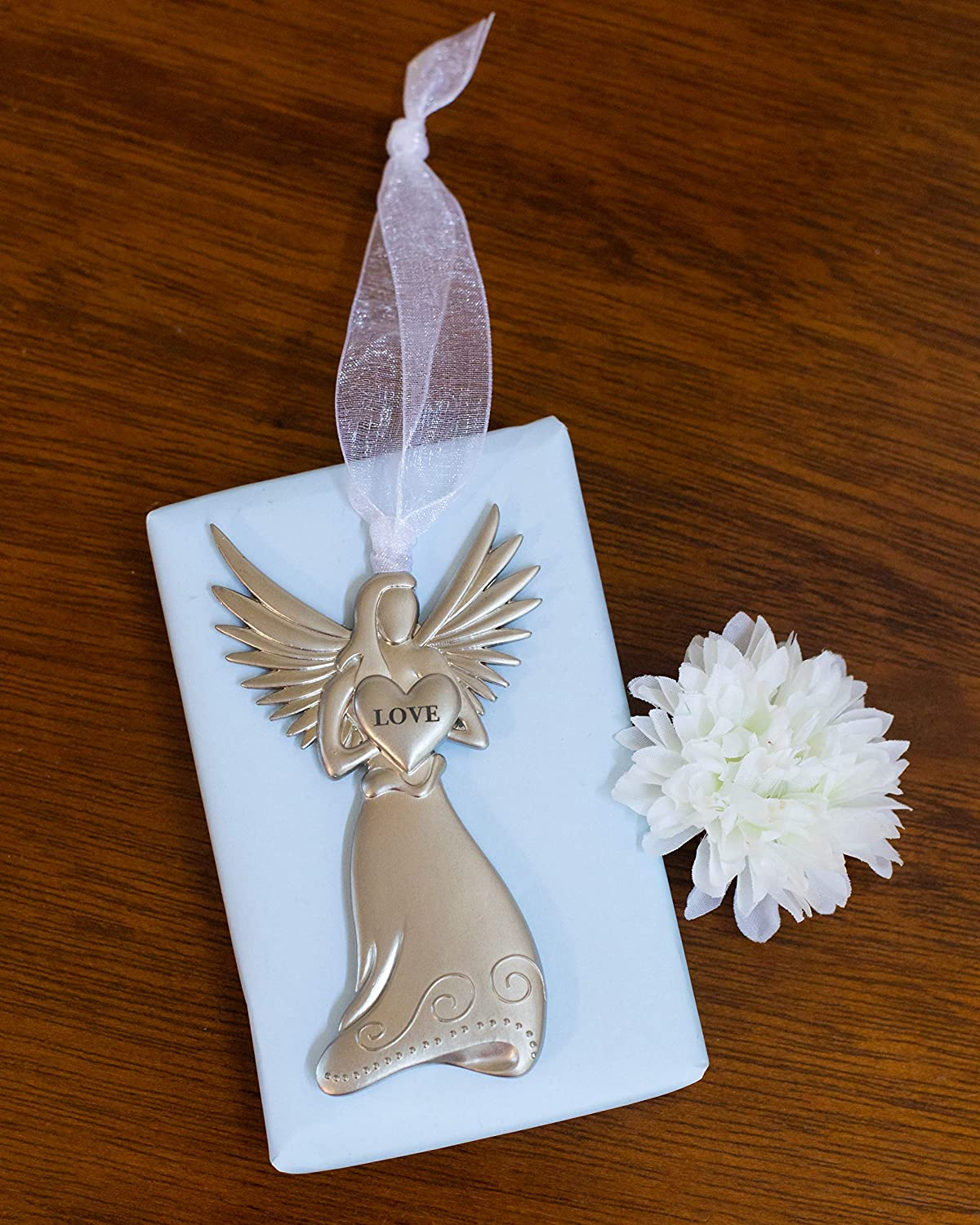 Heartfelt Sympathy Gift for Loss of Loved One Memorial//Remembrance Angel Ornament with Celebrate My Life Poem