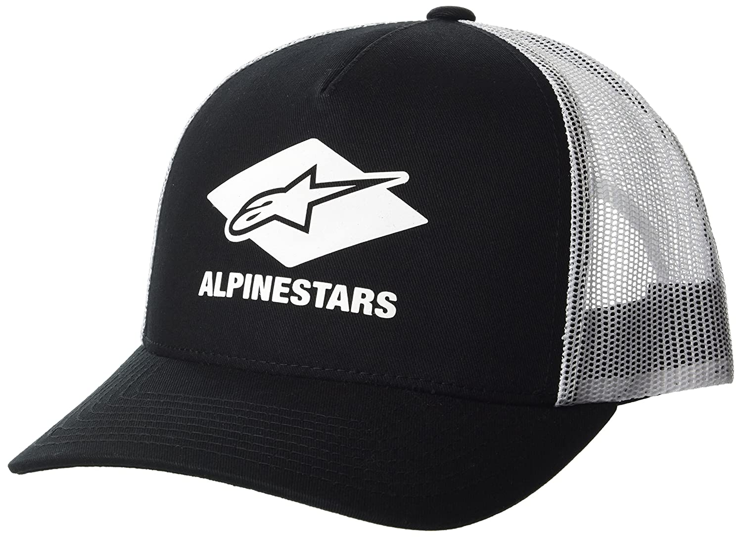 3bd8d1c9c31 ALPINESTARS diamond hat. Structured pinch front crown. Adjustable snap  back. Twill front fabric