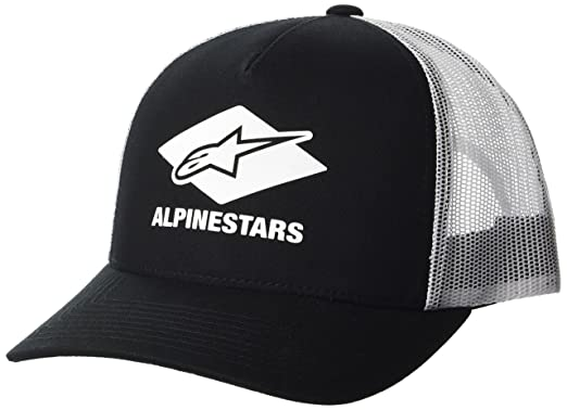 1ff39348 Alpinestars Men's Curved Bill Trucker Snap Back Hd Logo Print Flexfit Hat