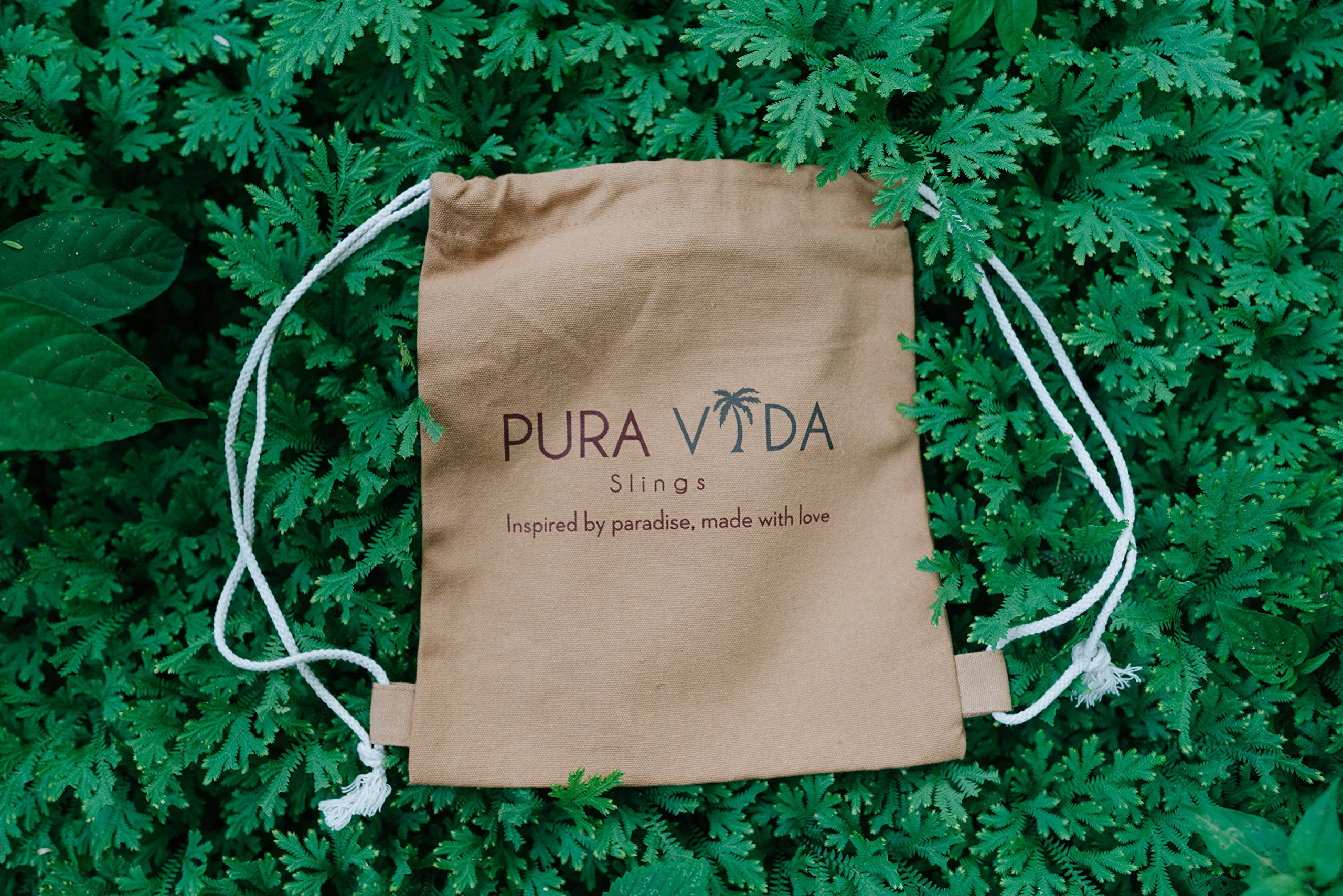 Luxury Ring Sling Baby Carrier – extra-soft bamboo and linen fabric - lightweight wrap - for newborns, infants and toddlers - perfect baby shower gift – great for new Dad too - nursing cover by Pura Vida Slings (Image #5)