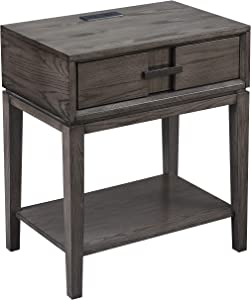 Leick Home Favorite Finds Nightstand, Smoke Gray