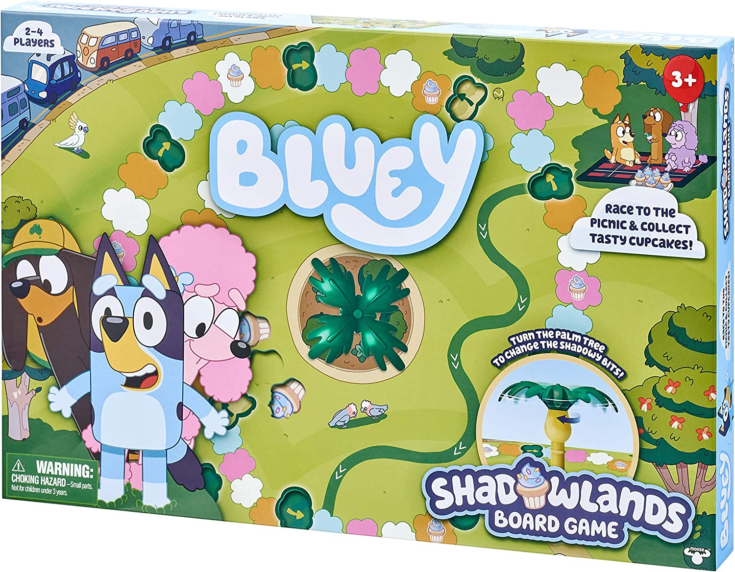 Amazon Com Bluey Shadowlands Board Game Family Game Night Unpredictable Fun Engaging Fun For All Collect All 5 Cupcake Cards 2 4 Players For Ages 3 Multicolor 13011 Toys Games