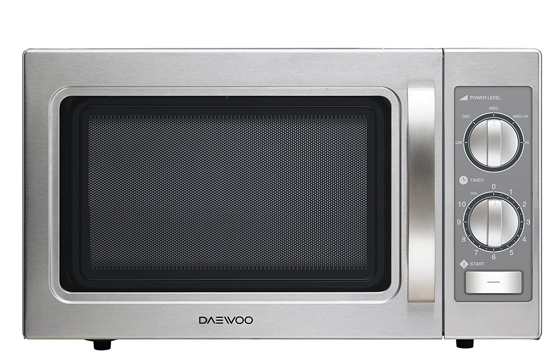 Daewoo KOM-9P35B - Microondas profesional, 29 litros, manual, inoxidable: Amazon.es: Hogar