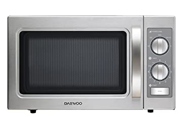 Daewoo KOM-9P35B Microondas profesional, 29 litros, manual, inoxidable, Acero