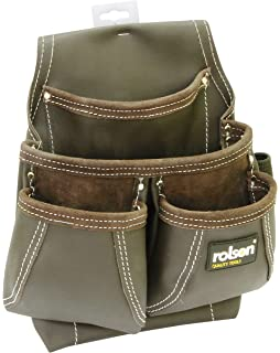 Amtech N0860 Multi-Pocket Leather Tool Pouch