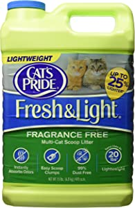 Oil-Dri Cat's Pride Fresh and Light Premium Clumping Fragrance Free Scoopable Cat Litter
