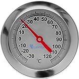 Lantelme 6115 Bimetall Erdboden - Kompostthermometer Wasserdicht -30 bis +120 Grad - Analog mit 50 cm langer Sonde