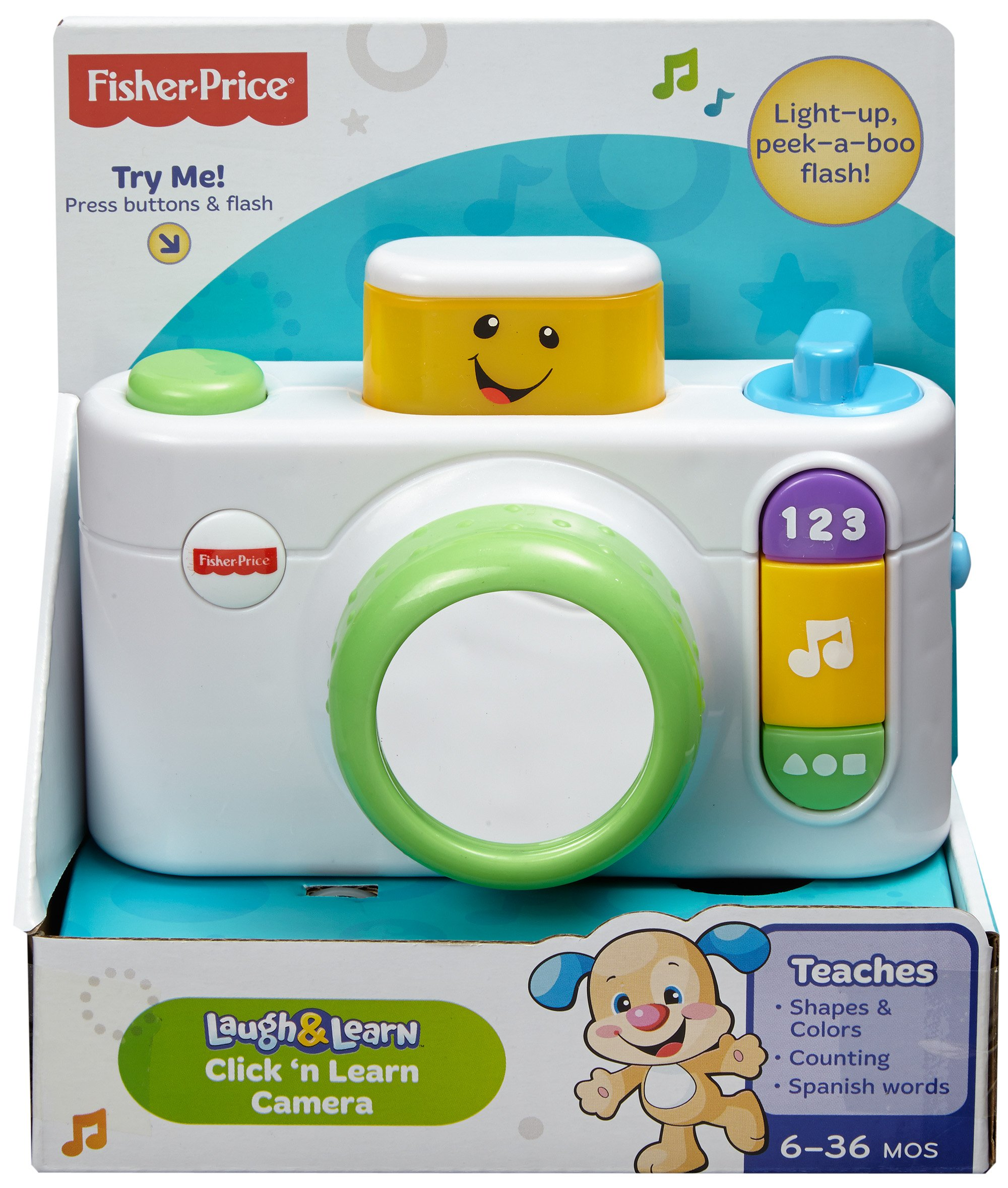Fisher-Price Laugh & Learn Click 'n Learn Camera, White by Fisher-Price (Image #6)