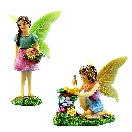 Pretmanns Fairy Garden Feen Mit Miniatur Feen Figuren Ideal Fur