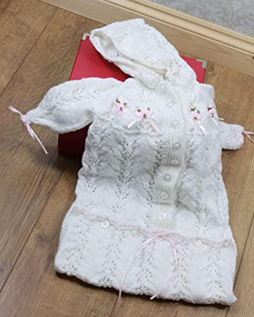 Knitted Hooded Sleeping Bag Pattern Baby Knitting Pattern 0-6 Months KP354 Knitting Patterns for Babies