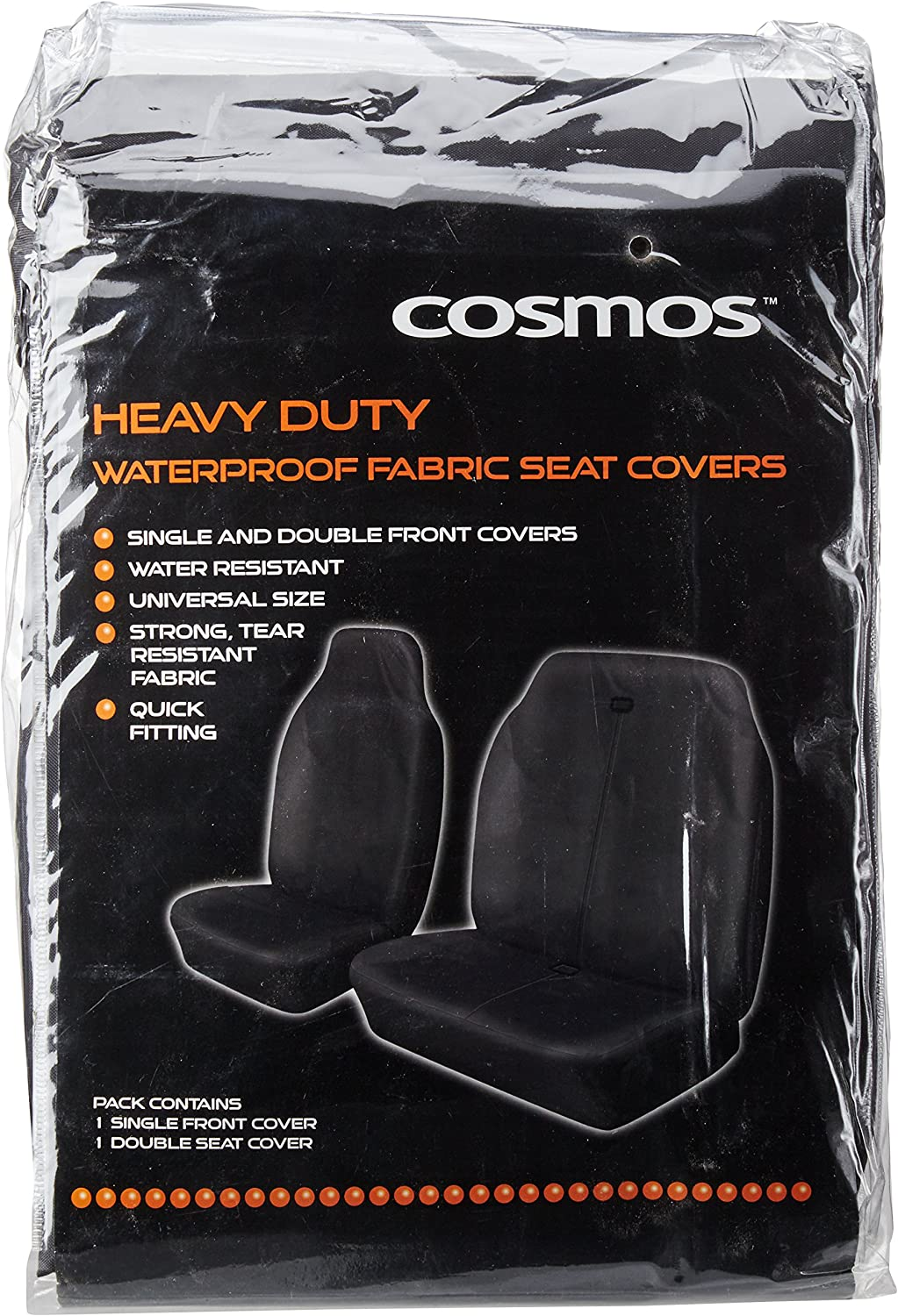 Cosmos Sport Pack Red Seat Covers With Seat Belt Pads /& Steering Wheel Cover