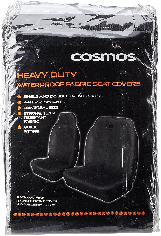 Pair of Heavy Duty Waterproof Van Seat Covers in GREY