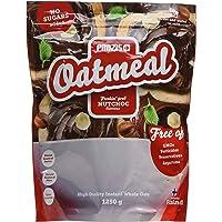 Prozis Oatmeal 1250g - Farina D'Avena, Cereali Arricchiti con Proteine, Carboidrati di Alta Qualità e Fibre Sazianti - Al Gusto NutChoc - Adatto a Vegetariani - Fa Bene al Cuore - 12 Porzioni