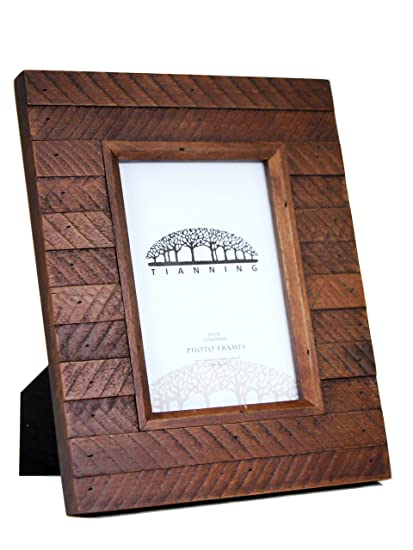 Amazon.com - Tianning Antique Slats Distressed Wooden Picture Frame ...
