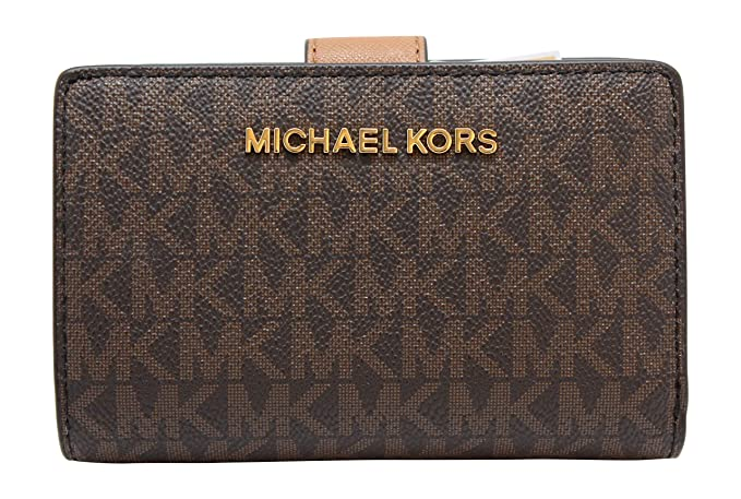 1ece31fa16f1 Michael Kors Jet Set Travel PVC Signature Bifold Zip Coin Wallet Clutch  (Brown 2018), One Size: Amazon.co.uk: Clothing