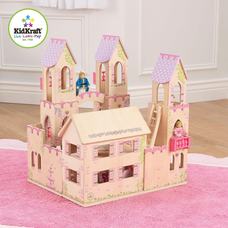 Amazing Castle Dollhouse Furniture #6: KidKraft-Princess-Castle-Dollhouse-with-Furniture
