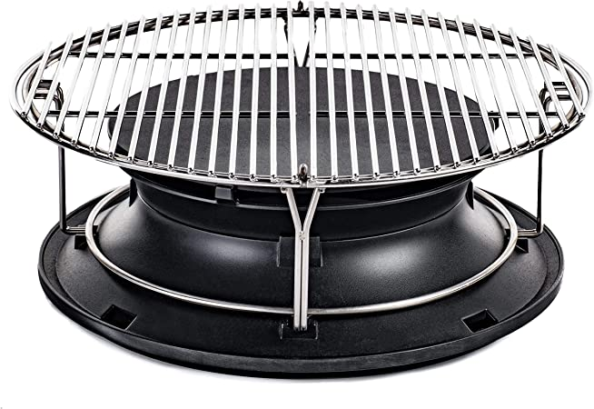 Kamado Joe KJ-Hyper Classic SloRoller with Cooking Rack, Black
