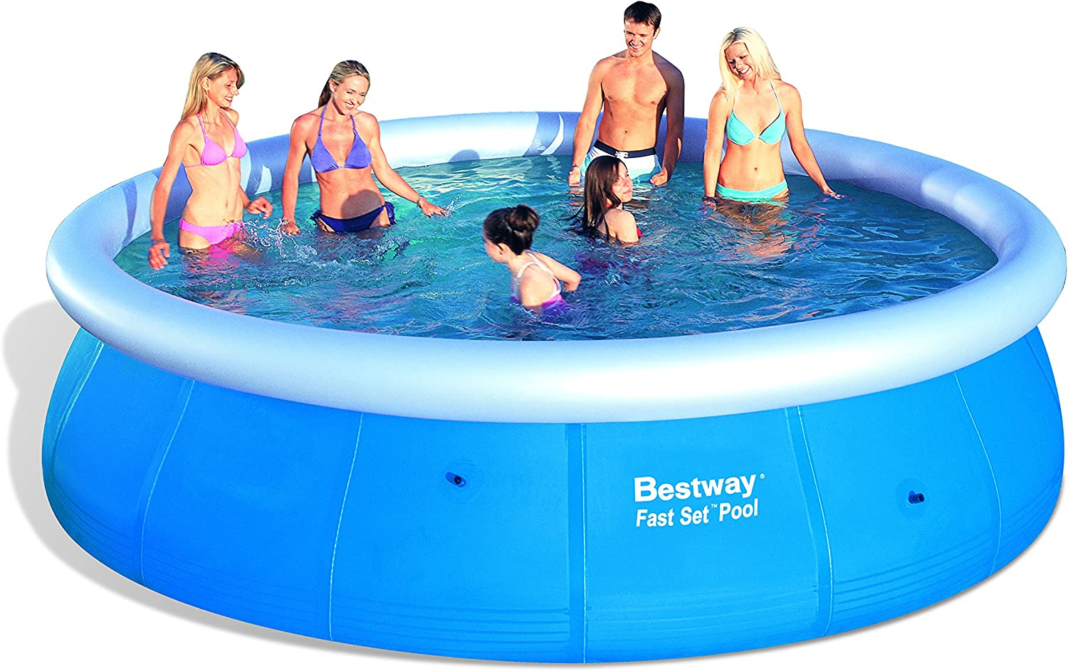 Bestway Fast Set - Piscina redonda, 457 x 107 cm: Amazon.es: Jardín