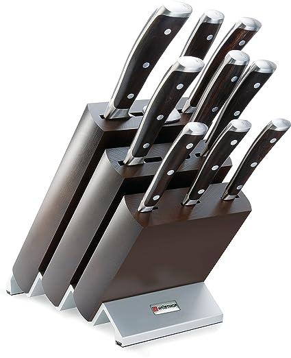 Wüsthof Ikon - Juego de cuchillos (9 piezas + bloque de soporte)