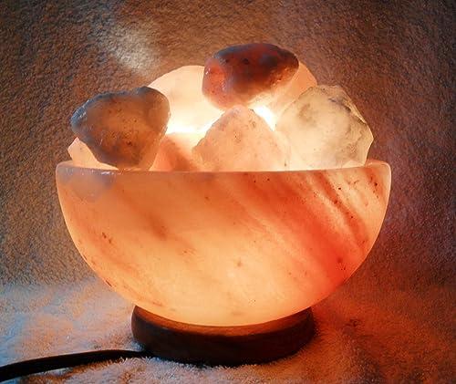 2 Himalayan Fire Bowls Crystal Salt Lamp Filled