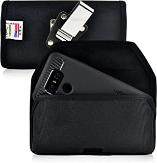 product image for Turtleback Belt Clip Case Made for LG G6 Black Holster Nylon Pouch with Heavy Duty Rotating Belt Clip Horizontal Made in USA