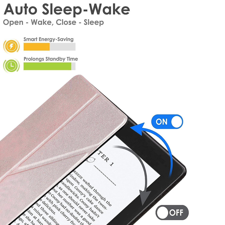 Estuche y Soporte Protectora Cierre Magn/ético del  Kindle Paperwhite Amarillo   Smart Wake Sleep 10./ª generaci/ón - 2018 Modelo Delgado Ligero Forefront Cases Kindle Paperwhite 2018 Funda