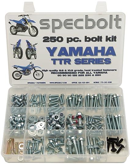 250pc Specbolt Yamaha TTR Bolt Kit for Maintenance Restoration OEM ...