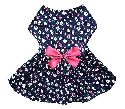 Petroom Puppy Dog Dress,Thin Cute Floral Princess Ribbon Skirt