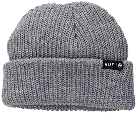3ce8b71605e HUF Mens Usual Beanie Essential Skull Cap - Gray -  Amazon.co.uk  Clothing