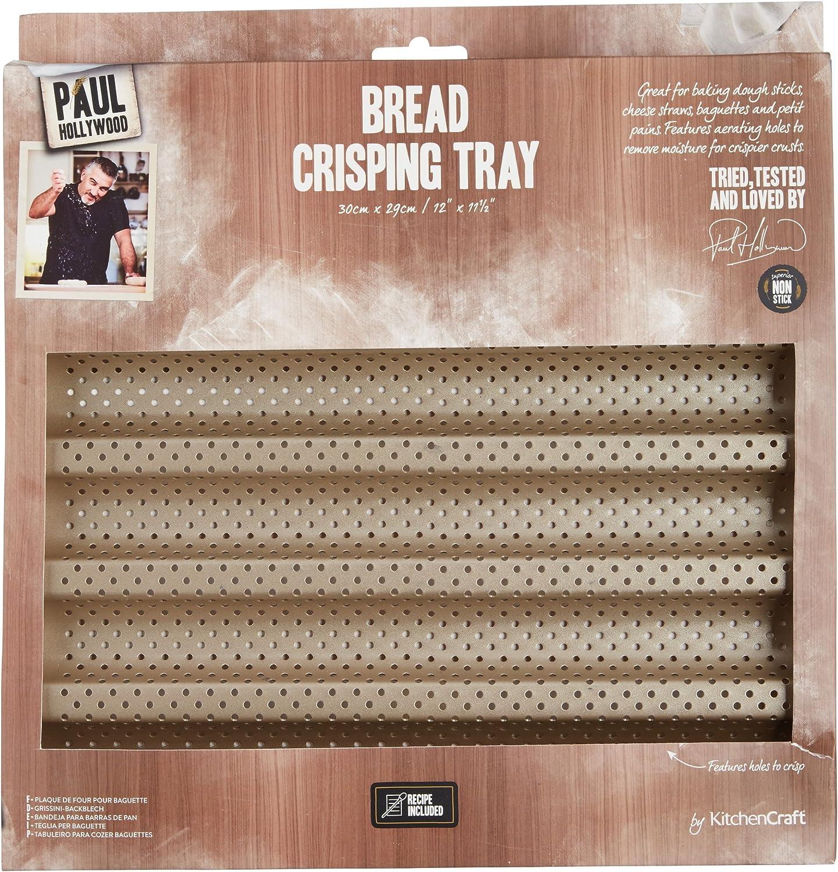 30/x 29/cm perfor/ée Anti-adh/ésive Paul Hollywood par Kitchencraft Plaque de Cuisson pour gressins