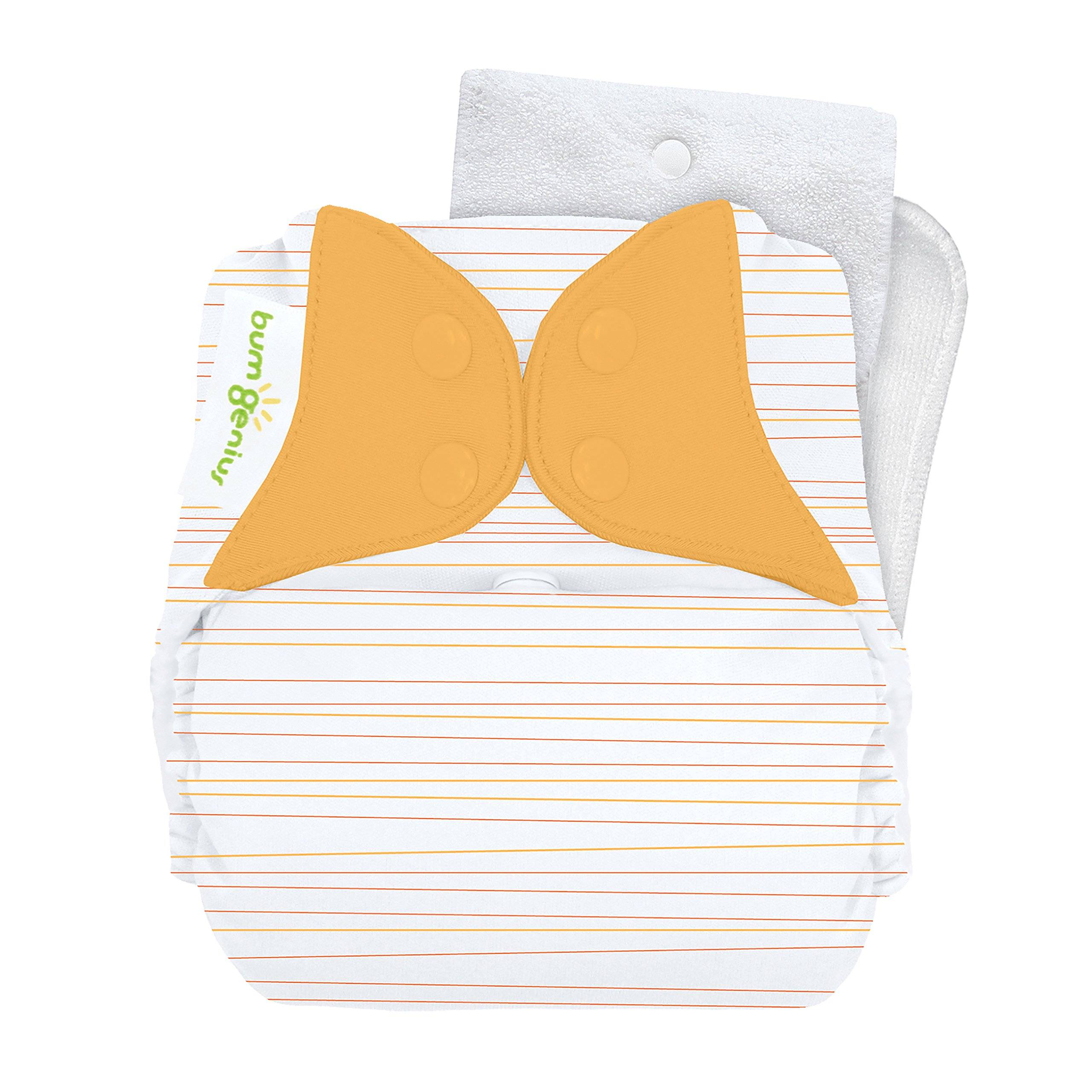 bumGenius One-Size Snap Cloth Diaper 4.0 (Neutral Stripe)