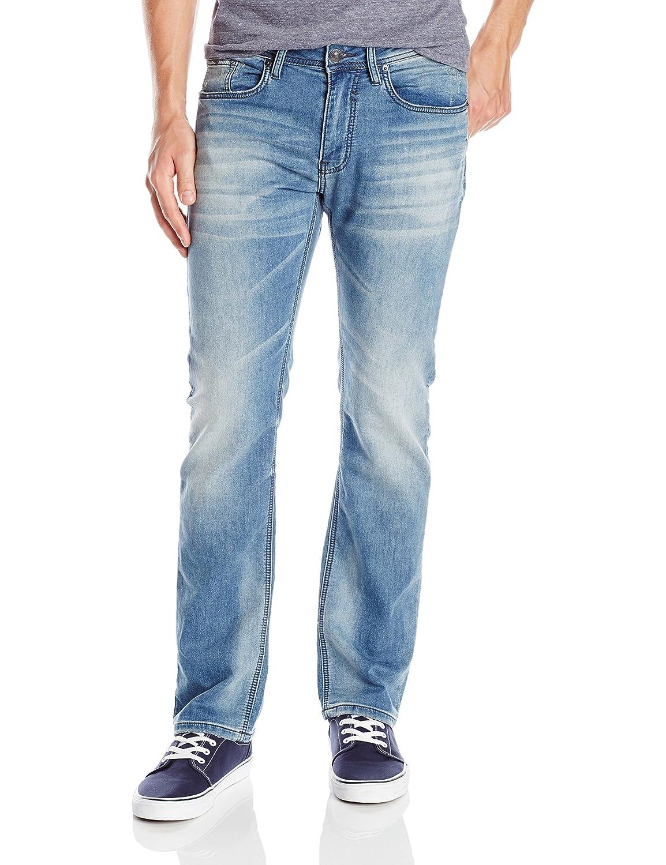 Buffalo David Bitton Men's Six Slim Straight Leg Fleece Jean