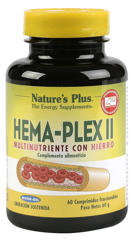 Natures Plus Hema-Plex II - 60 Comprimidos: Amazon.es: Salud y cuidado personal