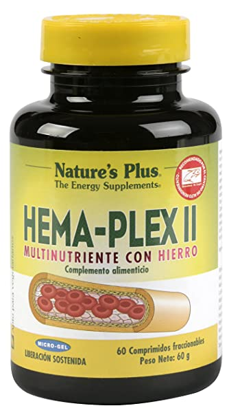 Amazon.com: Natures Plus Hemaplex Ii 60 Comp. by Natures Plus ...