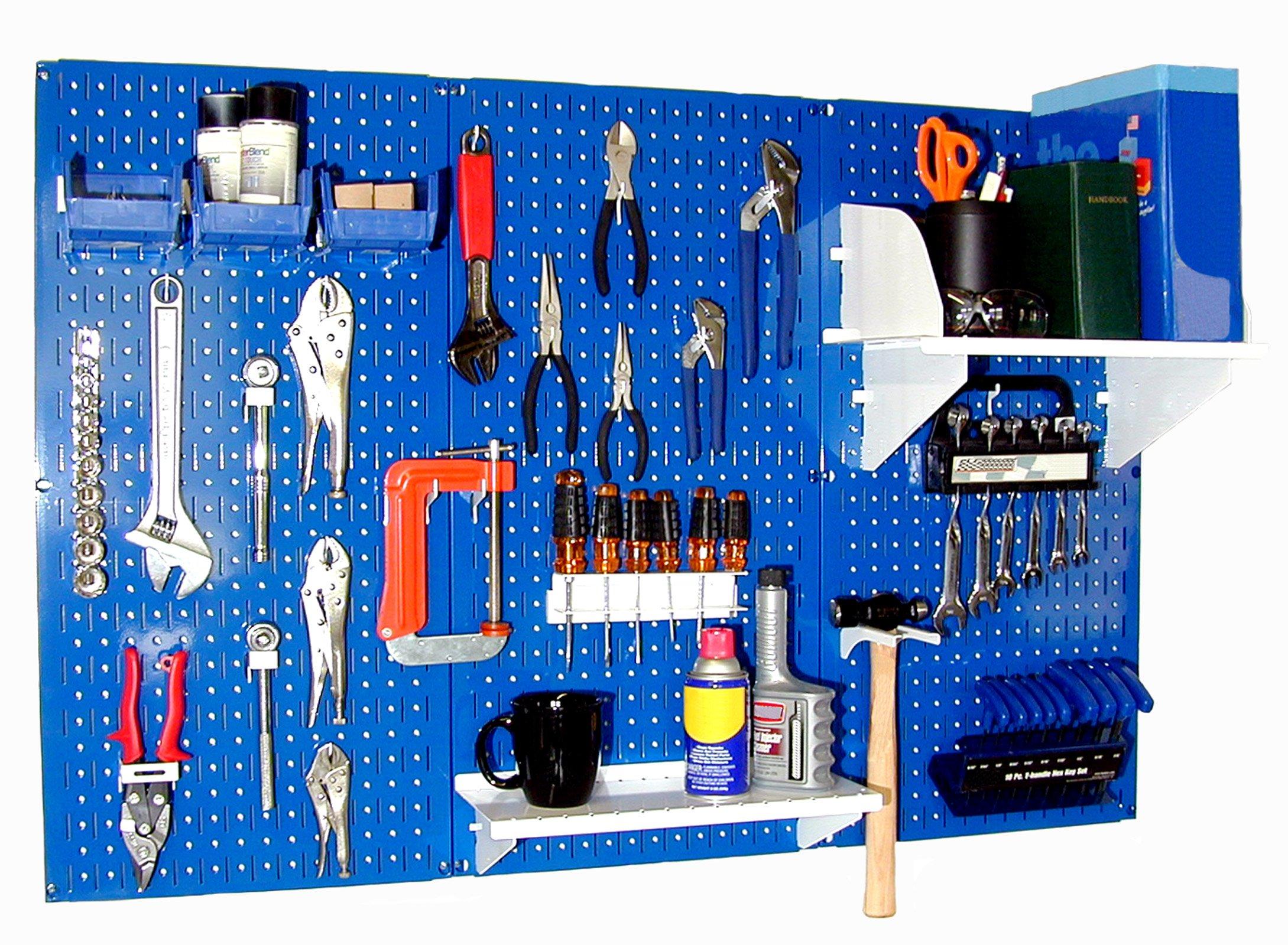 Wall Control 30-WRK-400BUW Standard Workbench Metal Pegboard Tool Organizer