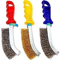 S&R Juego de cepillos metálicos de 3 piezas: