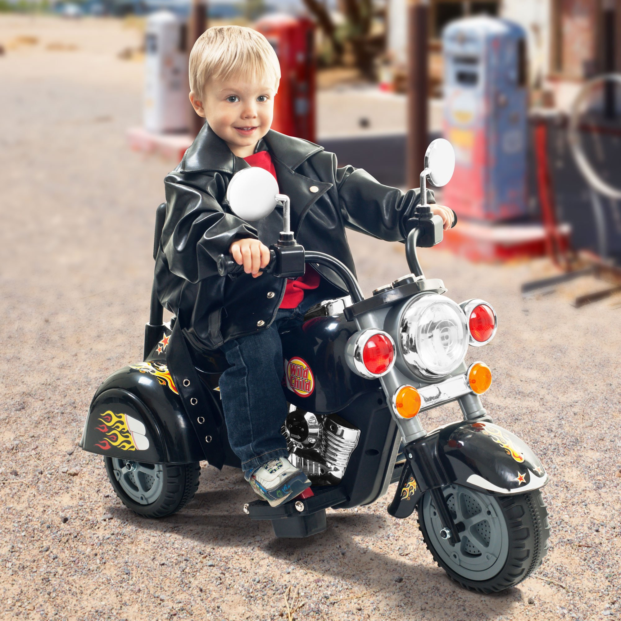 3 Wheel Chopper Trike Motorcycle for Kids, Battery Powered Ride On Toy by Lil' Rider  – Ride on Toys for Boys and Girls, Toddler and Up - Black by Lil' Rider (Image #2)