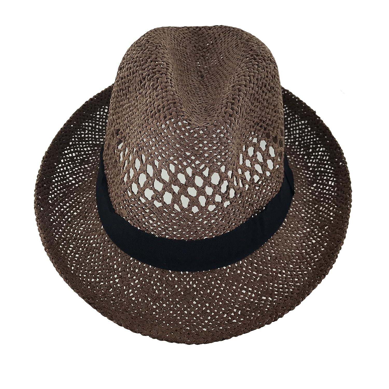 Faddism Unisex Vented Cuban Brim Fedora Hat Model 221
