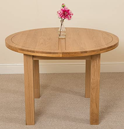 Admirable Round Extendable Dining Table 4 6 Seater Small Oak Kitchen Table Extending Dining Table From 110 Cm 140 Cm Minimal Assembly Edmonton By Creativecarmelina Interior Chair Design Creativecarmelinacom