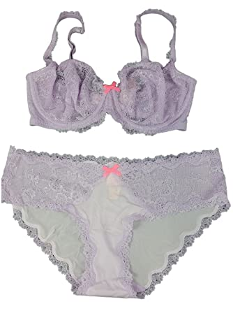 7b2a98f94b Image Unavailable. Image not available for. Color  Victoria s Secret Dream  Angels Lavender Unlined Demi Bra Hipkini Set ...