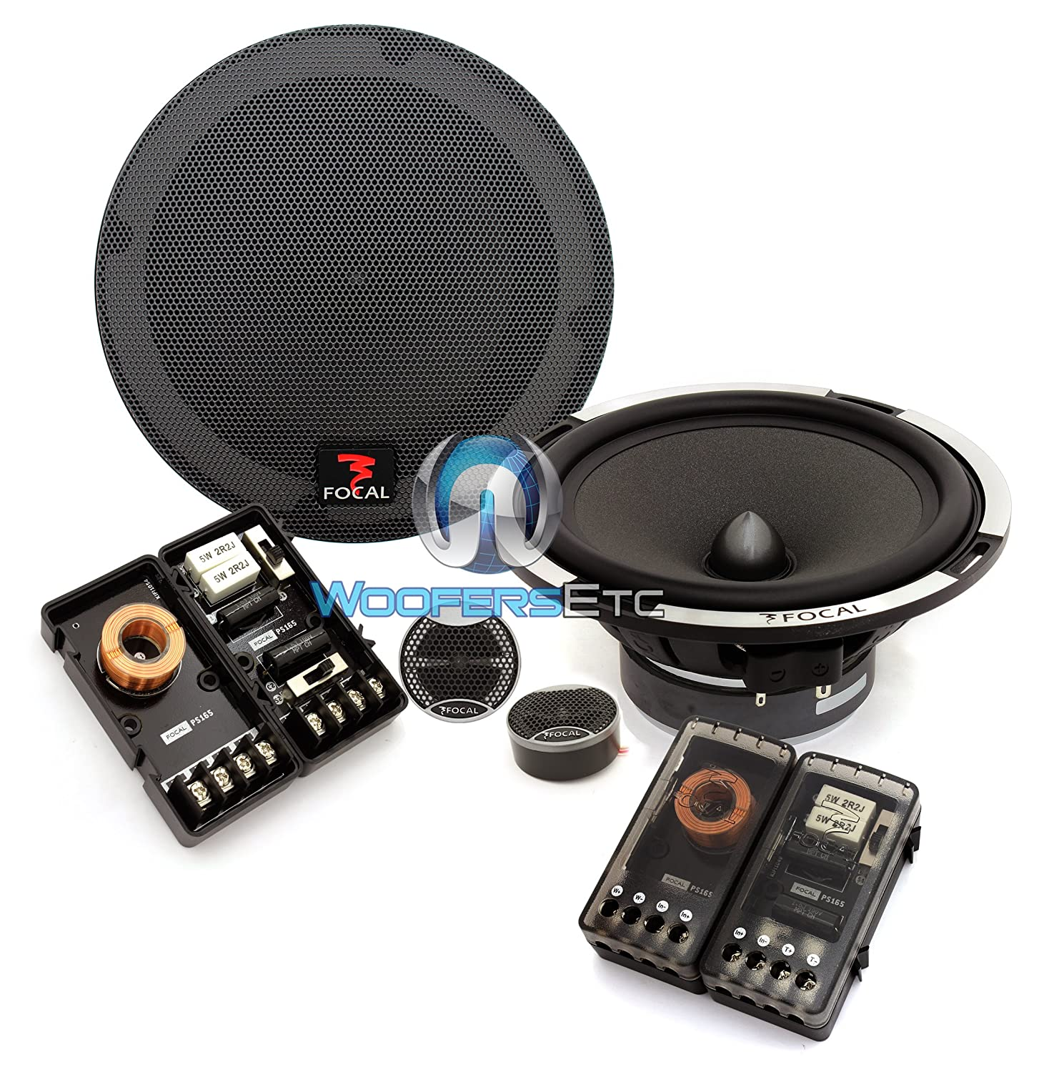 Focal Ps 165 65 160 Watts Rms 2 Way Performance Series Rockford Fosgate Punch 45 Specs Component Speakers System Cell Phones Accessories