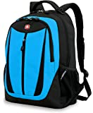 Swiss Gear SA3077 Black with Blue Lightweight Laptop Backpack - Fits Most 15 Inch Laptops and Tablets