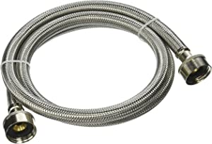 Plumb Pak PP23821 Washing Machine Hose, 3/4 In X 4 Ft, Fht, Stainless Steel, 48""