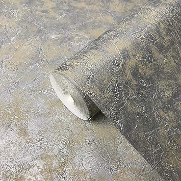 Portofino Italian Wallcoverings Platinum Embossed Plain Vinyl Non