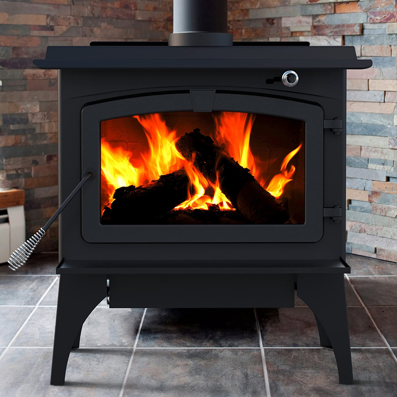 Com Pleasant Hearth 1 800 Square Feet Wood Burning Stove Medium Home Kitchen