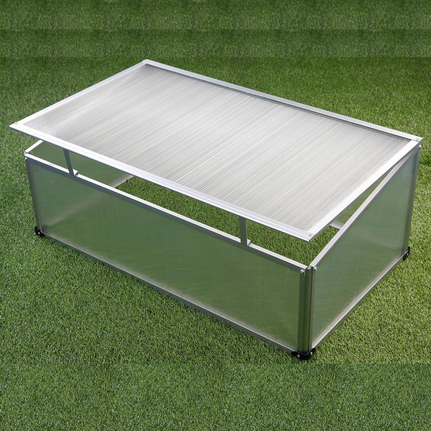 Hotbed hothouse, greenhouse, hotbed box aluminium 120 cm x 80 cm x 40 cm Linder-Exclusiv