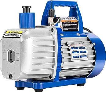 VIVOHOME 110V 1/2 HP 5 CFM Dual Stage Rotary Vane HVAC Air Vacuum Pump with Oil Bottle