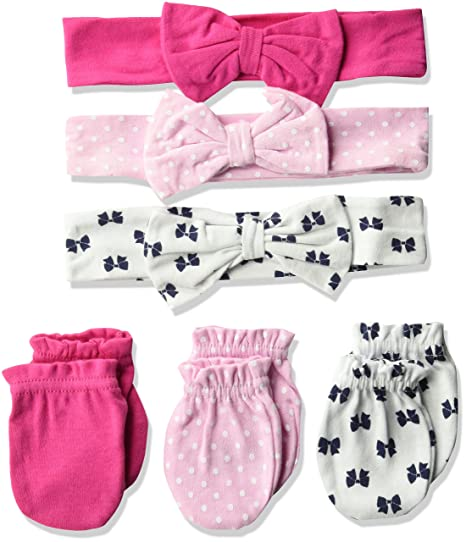 Amazon.com  Hudson Baby Baby Headband and Scratch Mitten Set 0b315c67fa0