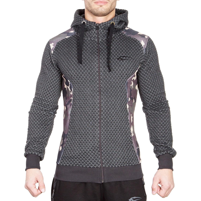 best SMILODOX - Sudadera con capucha y cremallera para hombre, de corte  ajustado e ideal